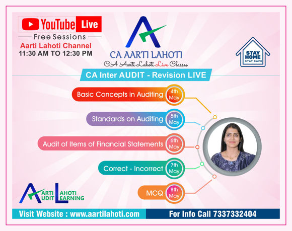 Picture of CA Inter Audit - REVISION LIVE