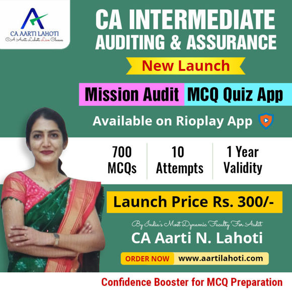 Picture of CA Intermediate AUDITING & ASSURANCE - Confidence Booster MCQ Quiz App